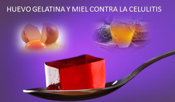 HUEVO GELATINA Y MIEL CONTRA LA CELULITIS1