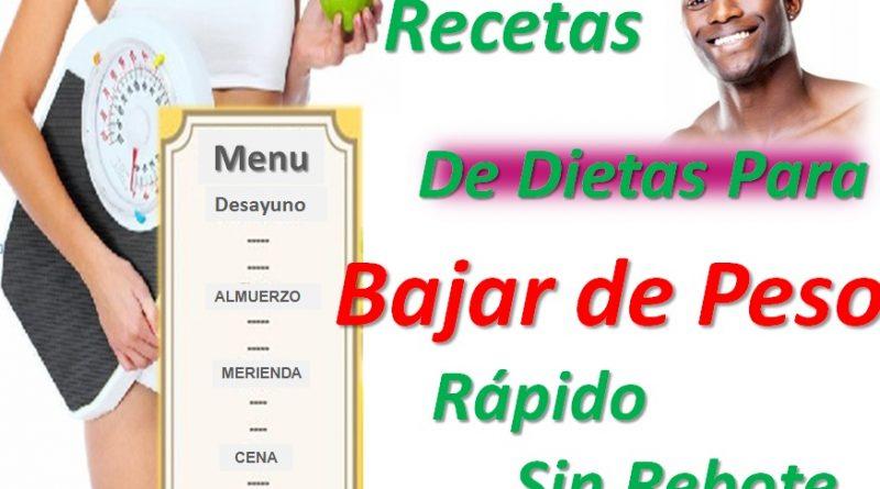recetas-de-dietas-para-bajar-peso-rapido-sin-rebote