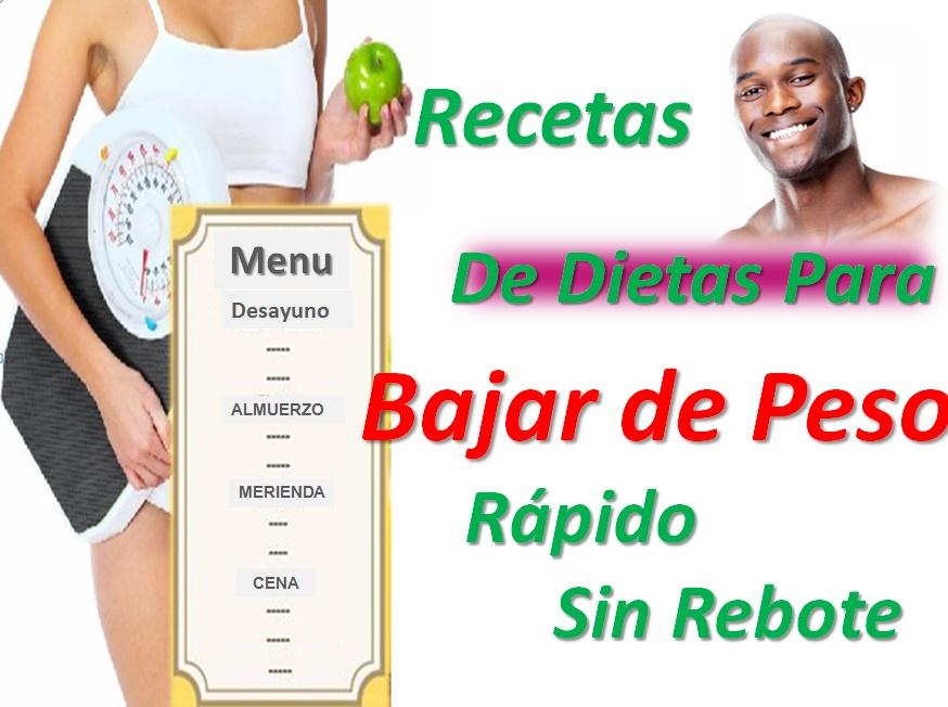 Recetas de Dietas Para Bajar de Peso Rápido Sin Rebote - Adelgazar